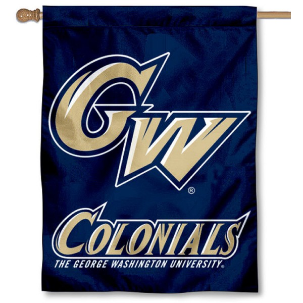GW Colonial House Flag is a vertical house flag which measures 30x40 inches, is made of 2 ply 100% polyester, offers dye sublimated NCAA team insignias, and has a top pole sleeve to hang vertically. Our GW Colonial House Flag is officially licensed by the selected university and the NCAA