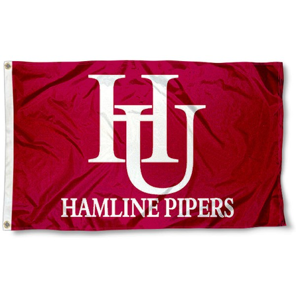 Hamline University Flag measures 3'x5', is made of 100% poly, has quadruple stitched sewing, two metal grommets, and has double sided Hamline University logos. Our Hamline University Flag is officially licensed by the selected university and the NCAA.