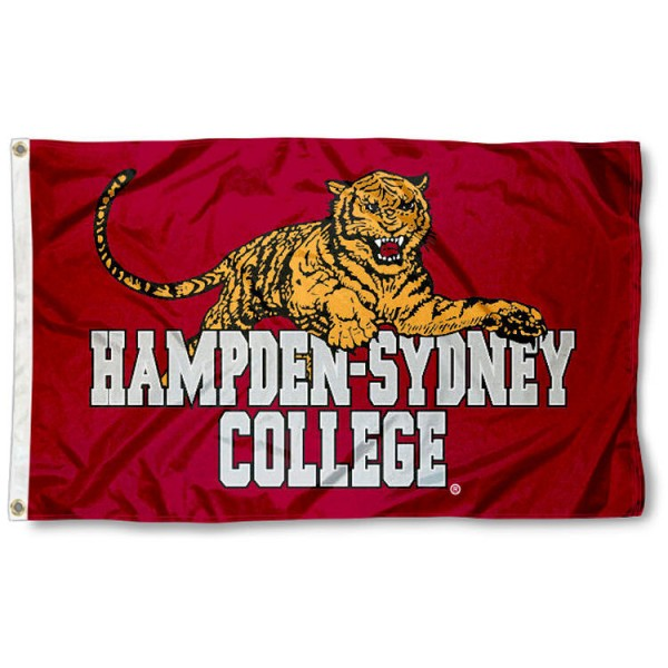 Hampden Sydney Tigers Flag is made of 100% nylon, offers quad stitched flyends, measures 3x5 feet, has two metal grommets, and is viewable from both side with the opposite side being a reverse image. Our Hampden Sydney Tigers Flag is officially licensed by the selected college and NCAA