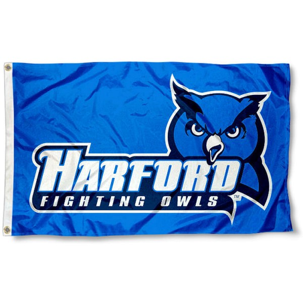Harford College Fighting Owls Flag measures 3x5 feet, is made of 100% polyester, offers quadruple stitched flyends, has two metal grommets, and offers screen printed NCAA team logos and insignias. Our Harford College Fighting Owls Flag is officially licensed by the selected university and NCAA.