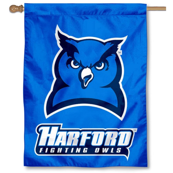 Harford College Fighting Owls House Flag is a vertical house flag which measures 30x40 inches, is made of 2 ply 100% polyester, offers screen printed NCAA team insignias, and has a top pole sleeve to hang vertically. Our Harford College Fighting Owls House Flag is officially licensed by the selected university and the NCAA.