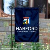 Harford College Fighting Owls Wordmark Logo Garden Flag