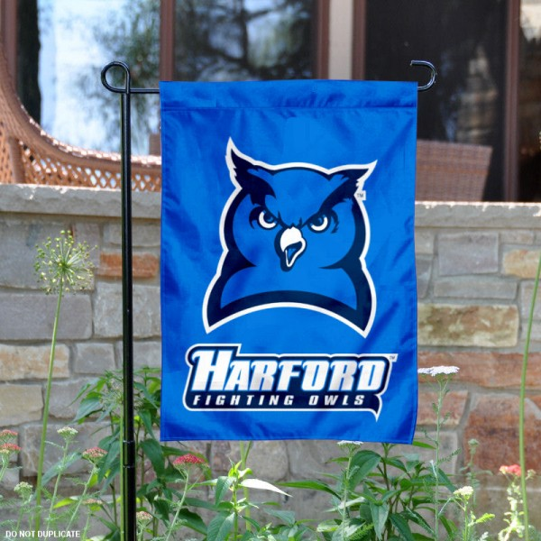 Harford College Garden Flag is 13x18 inches in size, is made of 2-layer polyester, screen printed university athletic logos and lettering, and is readable and viewable correctly on both sides. Available same day shipping, our Harford College Garden Flag is officially licensed and approved by the university and the NCAA.