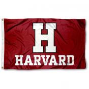 Harvard Crimson Athletic Logo Flag