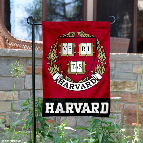 Harvard Crimson Coat of Arms Garden Flag is 13x18 inches in size, is made of 2-layer polyester, screen printed logos and lettering. Available with Same Day Express Shipping, Our Harvard Crimson Coat of Arms Garden Flag is officially licensed and approved by the College and the NCAA.