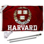 Harvard Crimson Flag Pole and Bracket Kit