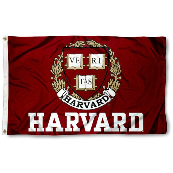 This Harvard Flag measures 3'x5', is made of 100% nylon, has quad-stitched sewn flyends, and has two-sided Harvard printed logos. Our Harvard Flag is officially licensed and all flags for Harvard are approved by the NCAA and Same Day UPS Express Shipping is available.