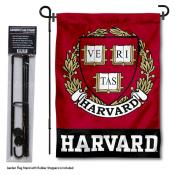 Harvard University Garden Flag and Stand