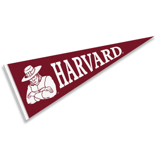 Harvard University Pennant measures 12x30 inches, is made of wool, and the School logos are printed with raised lettering. Our Harvard University Pennant is Officially Licensed and Approved by the University or Institution.