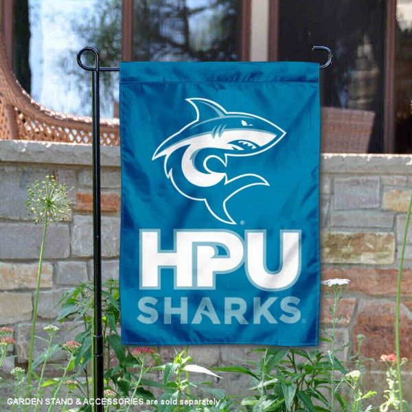 Hawaii Pacific Sharks Logo Garden Flag is 13x18 inches in size, is made of 2-layer polyester, screen printed university athletic logos and lettering, and is readable and viewable correctly on both sides. Available same day shipping, our Hawaii Pacific Sharks Logo Garden Flag is officially licensed and approved by the university and the NCAA.