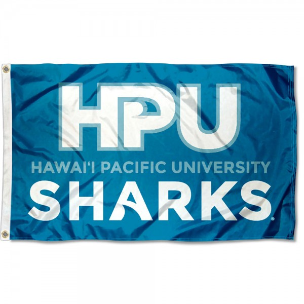 Hawaii Pacific Sharks Wordmark Logo Flag measures 3x5 feet, is made of 100% polyester, offers quadruple stitched flyends, has two metal grommets, and offers screen printed NCAA team logos and insignias. Our Hawaii Pacific Sharks Wordmark Logo Flag is officially licensed by the selected university and NCAA.