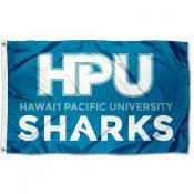 Hawaii Pacific Sharks Wordmark Logo Flag