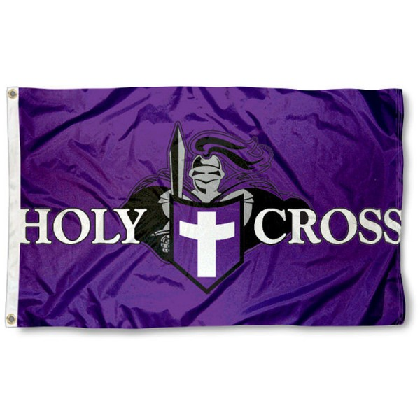 This Holy Cross Crusaders Flag measures 3'x5', is made of 100% nylon, has quad-stitched sewn flyends, and has two-sided Holy Cross Crusaders printed logos. Our Holy Cross Crusaders Flag is officially licensed and all flags for Holy Cross Crusaders are approved by the NCAA and Same Day UPS Express Shipping is available.