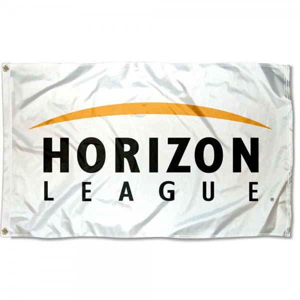 Horizon League Athletic Conference Flag measures 3'x5', is made of 100% poly, has quadruple stitched sewing, two metal grommets, and has double sided Horizon League Athletic Conference logos. Our Horizon League Athletic Conference Flag is officially licensed by the selected Conference and the NCAA.