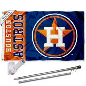 Houston Astros Flag Pole and Bracket Kit