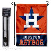 Houston Astros Logo Garden Flag and Stand