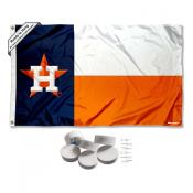Houston Astros State of Texas Banner Flag with Tack Wall Pads