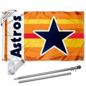 Houston Astros Vintage Rainbow Flag Pole and Bracket Kit