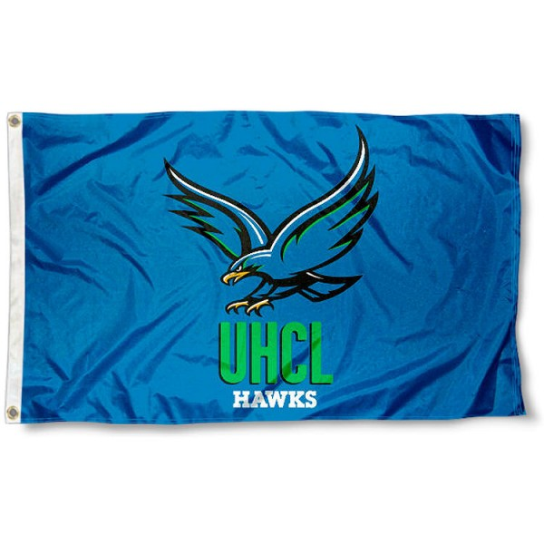 Houston Clear Lake Hawks Flag measures 3x5 feet, is made of 100% polyester, offers quadruple stitched flyends, has two metal grommets, and offers screen printed NCAA team logos and insignias. Our Houston Clear Lake Hawks Flag is officially licensed by the selected university and NCAA.