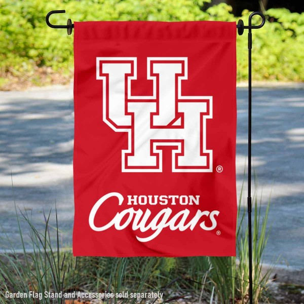 Houston Cougars Double Sided Yard Flag is 13x18 inches in size, is made of 2-layer polyester, screen printed Houston Cougars Double Sided athletic logos and lettering. Available with Same Day Express Shipping, Our Houston Cougars Double Sided Yard Flag is officially licensed and approved by Houston Cougars Double Sided and the NCAA.
