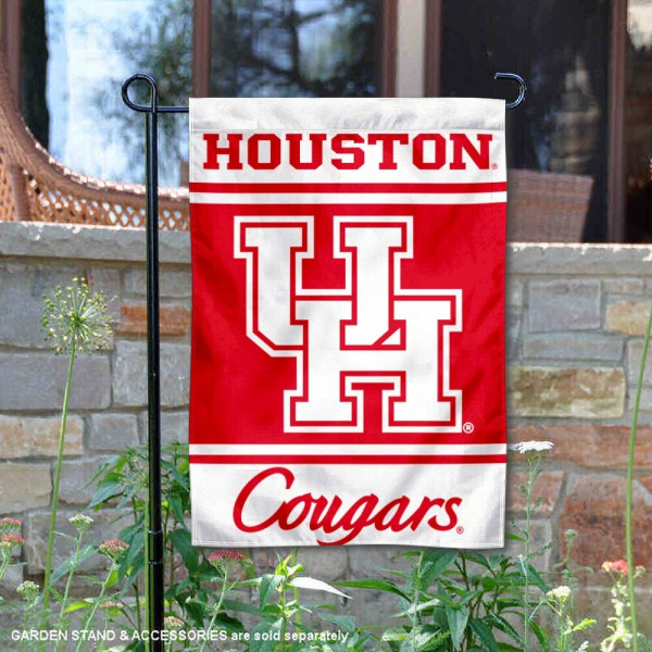 Houston Cougars Garden Flag is 13x18 inches in size, is made of 2-layer polyester, screen printed logos and lettering. Available with Same Day Express Shipping, Our Houston Cougars Garden Flag is officially licensed and approved by the NCAA.