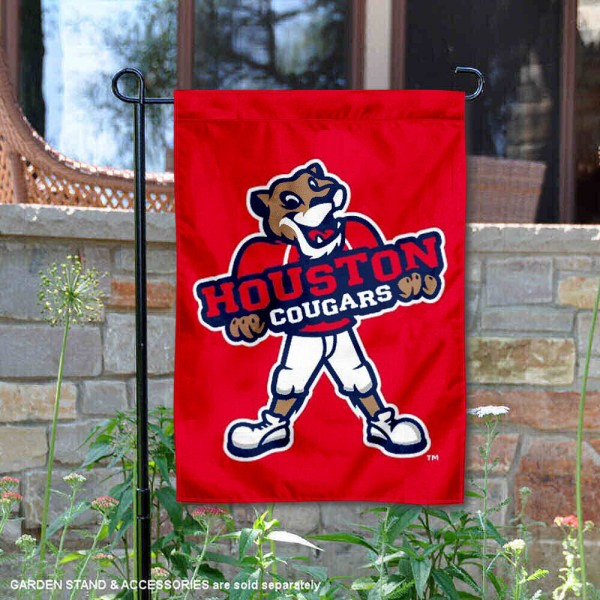 Houston Cougars Shasta Mascot Garden Flag is 13x18 inches in size, is made of 2-layer polyester, screen printed University of Houston athletic logos and lettering. Available with Same Day Express Shipping, Our Houston Cougars Shasta Mascot Garden Flag is officially licensed and approved by University of Houston and the NCAA.