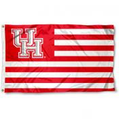Houston Cougars Stripes Flag