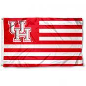 Houston Cougars Stripes Flag