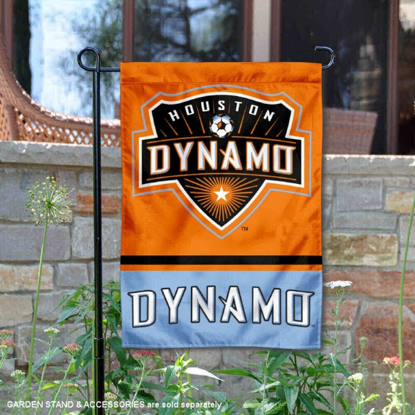 Houston Dynamo Garden Flag is 12.5x18 inches in size, is made of 2-ply polyester, and has two sided screen printed logos and lettering. Available with Express Next Day Shipping, our Houston Dynamo Garden Flag is MLS Genuine Merchandise and is double sided.