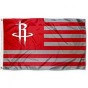 Houston Rockets Americana Stripes Nation Flag