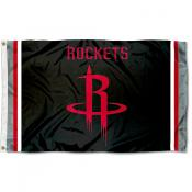 Houston Rockets Black Logo Flag