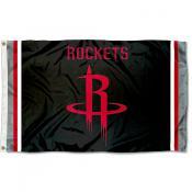 Houston Rockets Black Logo Flag