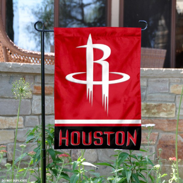 Houston Rockets Garden Flag is 12.5x18 inches in size, is made of 2-ply polyester, and has two sided screen printed logos and lettering. Available with Express Next Day Shipping, our Houston Rockets Garden Flag is NBA Genuine Merchandise and is double sided.