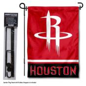 Houston Rockets Garden Flag and Stand