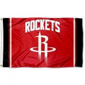 Houston Rockets Stripes 3x5 Banner Flag