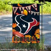 Houston Texans Fall Football Leaves Decorative Double Sided Garden Flag
