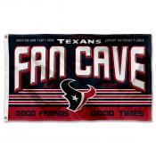 Houston Texans Fan Cave Flag Large Banner