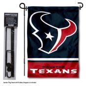 Houston Texans Garden Flag and Stand