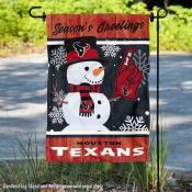 Houston Texans Holiday Winter Snow Double Sided Garden Flag