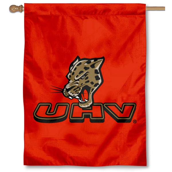 Houston Victoria Jaguars House Flag is a vertical house flag which measures 30x40 inches, is made of 2 ply 100% polyester, offers screen printed NCAA team insignias, and has a top pole sleeve to hang vertically. Our Houston Victoria Jaguars House Flag is officially licensed by the selected university and the NCAA.