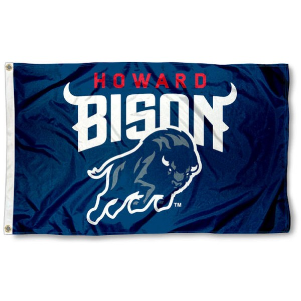 Howard Bison New Logo Flag is made of 100% nylon, offers quad stitched flyends, measures 3x5 feet, has two metal grommets, and is viewable from both side with the opposite side being a reverse image. Our Howard Bison New Logo Flag is officially licensed by the selected college and NCAA