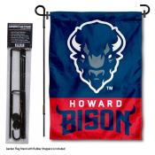 Howard University Garden Flag and Stand