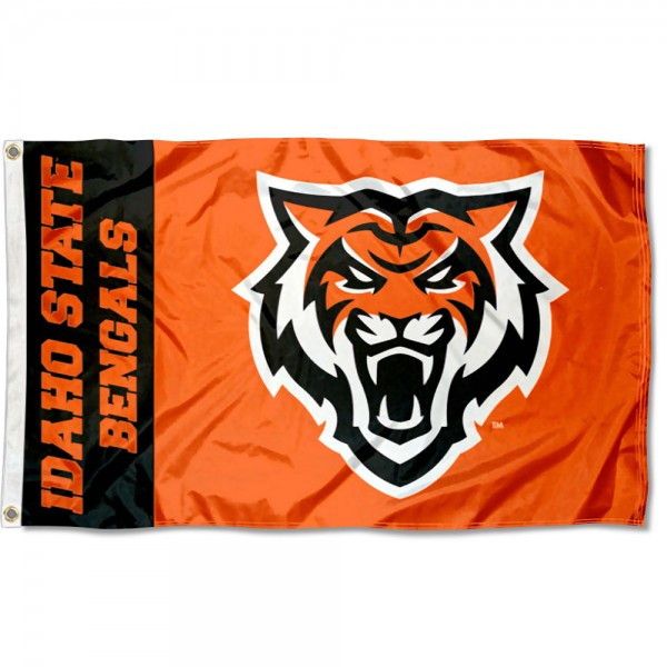 Idaho State Bengals New Logo Flag is made of 100% nylon, offers quad stitched flyends, measures 3x5 feet, has two metal grommets, and is viewable from both side with the opposite side being a reverse image. Our Idaho State Bengals New Logo Flag is officially licensed by the selected college and NCAA