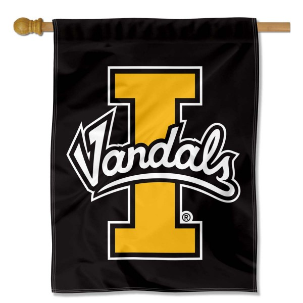 Idaho Vandals House Flag is a vertical house flag which measures 30x40 inches, is made of 2 ply 100% polyester, offers dye sublimated NCAA team insignias, and has a top pole sleeve to hang vertically. Our University of Idaho House Flag is officially licensed by the selected university and the NCAA