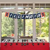Illinois Fighting Illini Banner String Pennant Flags