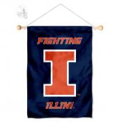 Illinois Fighting Illini Banner with Suction Cup