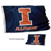 Illinois Fighting Illini Blue Double Sided Flag