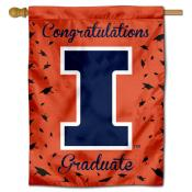 Illinois Fighting Illini Congratulations Graduate Flag
