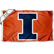 Illinois Fighting Illini Large 4x6 Flag