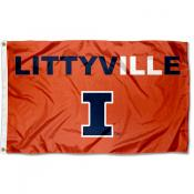 Illinois Fighting Illini Littyville Flag